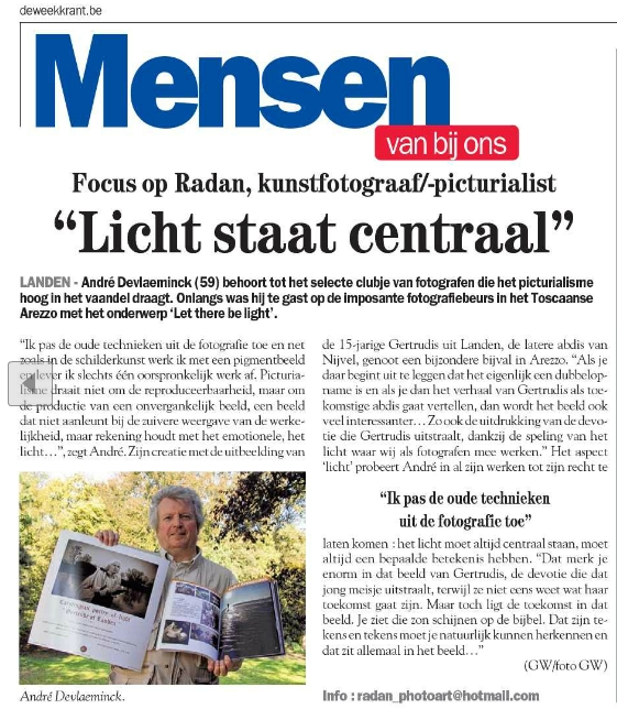 Radan in De Weekkrant