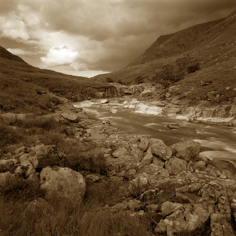 Glencoe Glen of weeping-sepia