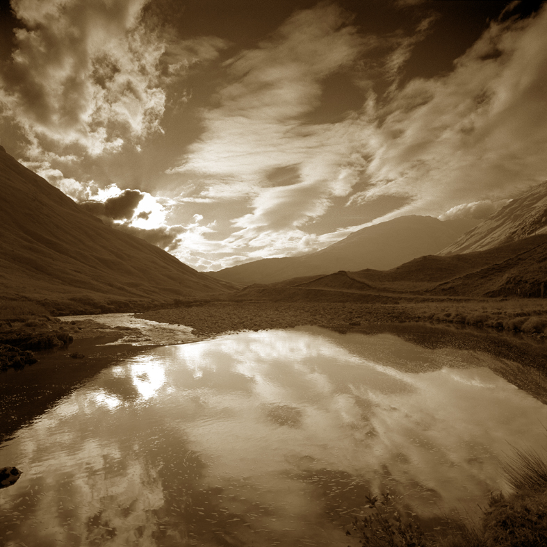 Remote valley of Glen Etive