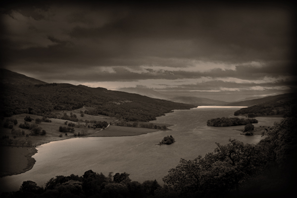 Queens' view (Sepia)